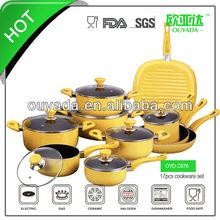 17pcs cookware frying pan