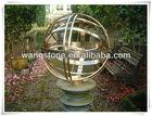 Custom metal sphere shape stainless steel statue
