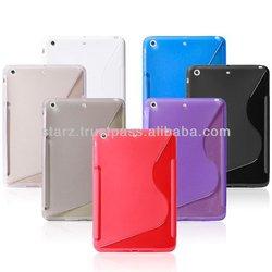 For ipad mini 2 Case S Line Soft TPU Gel Skin case