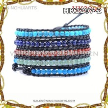 wholesale write on genuine leather bracelets fashion bracelets 2014 made in China