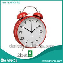Guang zhou 8inch home decor modern big twim bell alarm paper clock dials