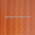 600*600 Clip- in legno di colore pannello in alluminio forato soffitto, materiali del tetto economico, interno del pannello murale decorativo
