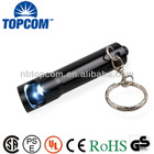 Aluminum 1 LED led keychain flashlight with bottle opener