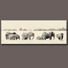 High quality animal paintings on canvas--African elephant contemporary paintings