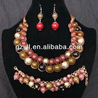 shining african costume jewelry set/beads jewelry set