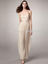 HT2370Sexy spaghetti strap long chiffon hong kong evening dress wholesale online
