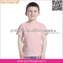 Children short sleeves plain t-shirts