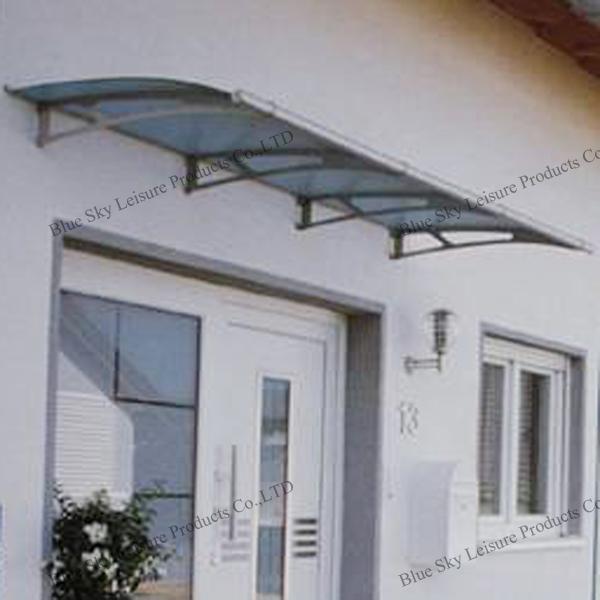 100 anti uv aluminum balcony canopy with polycarbonate for Balcony canopy