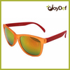 2014 Fashionable Glossy Frame Yellow Mirror Lens Wayfarer Sunglasses UV400 Protection