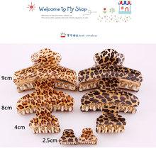 2014 fashion multi size plastic leopard hair claw clip