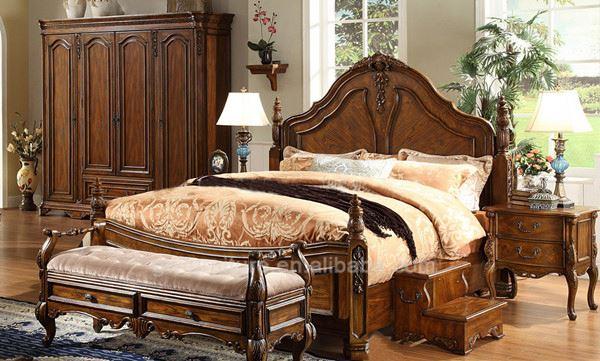 Neues design holz rundes bett - Muebles de dormitorio antiguos ...