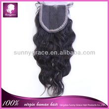 Aliexpress hair Brazilian virgin remy lace closure bleached knots body wave 4*4 medium brown lace