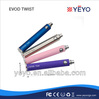 Yeyo adjustable voltage battery evod twist kit with mt3 atomizer