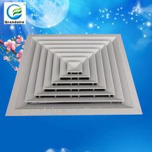 600*600 roof ceiling design, air vent museum/theater perforated Aluminum ceiling diffuser