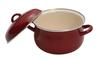 5pcs wonderful Red Chinese Enamel cookware Pot Set Enamelware Stew Pot