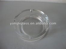 crystal promotional round ashtray/glassware
