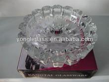 crystal promotional ashtray/glassware