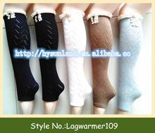 lace trim ruffled leg warmer