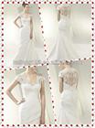 Comtemporary Sheath V-neck Cap Sleeve Lace Bodice Wedding Dress