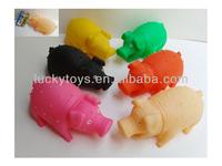 slush molding toys 20CM soft plastic bellow pig with thorn toys