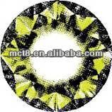 air optix aqua/colour contact lenses/Crazy contact lens,Yellow diamond Color contact lenses