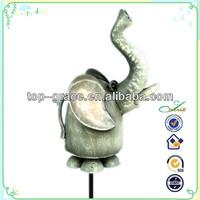 Elephant metal garden animals and garden stakes