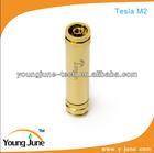 2014 wholesale high quality e cig copper Champagne gold/white chrome mechanical mod Tesla-M2 mod