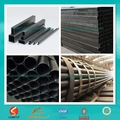 melhor qualidade cr ferro preto tubos de aço retangulares e tubos