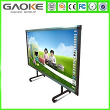 Gaoke finger dual touch 104 inch aspect ratio 16:9 hid interactive whiteboard