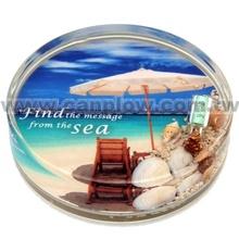 Wholesale Souvenir Gift Items Plastic Tea Cup Liquid Coaster