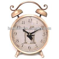 Bedroom Table Clock Metal Decorative Desk Clock Alarm Clock