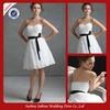 SB51 Elegant Cheap White Lace Short Western Wedding Bridesmaid Dresses