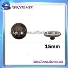 Fashion Metal Press Snap Buttons with Engraved Logo