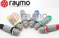 Médica compatible conector de plástico pag, pkg, plg 2 pin conector circular