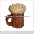Taza de cerveza puzzles/rompecabezas, las artes de madera artesanal py4244