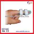 venta al por mayor 2014 fijo dedo vendaje de primeros auxilios de aluminio el dedo pulgar del dedo del pie flexible férulas férula dedo de la mano soporta férula