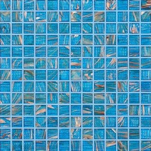 glass mosaico for swimming pool blue with golden line color
