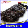 Elegante camboyano de onda profunda 100% maraña de pelo gratis en tejido a granel