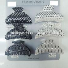 monochrome plastic hair claw cheap hair accessory