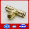 High Precision brass male Connecting push in fittings Elbow Tee