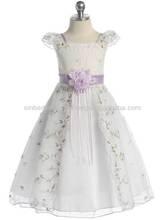 Embroidered Organza Girl Dress New Design Flower Girl Dress