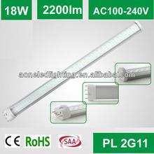 2014 new design 2g11 led tubes light 18w