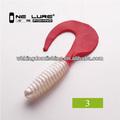 10 cm 8.5 g pesca del tipo de pez con goma gusanos rojos