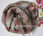 30%wool,70%acrylic ladies yarn dyeing woven scarf