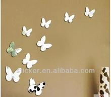 3D mirror sticker butterfly design