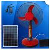 "Red / Blue hot sell plastic 12v ac/dc 16"" solar table fan DC 12V SOLAR FAN"