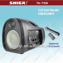 SHIER TK-T99 rechargeable portable fm radio mini digital speaker with wireless micro