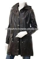 Full Length Women Leather Coat