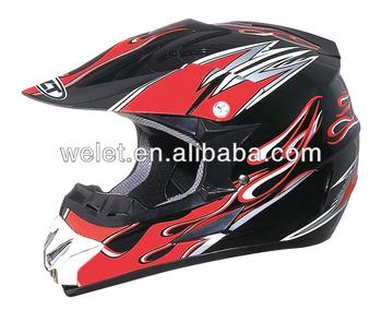 Crash Helmet, Racing helmet WLT-125 Black/Red 2#