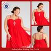 E0634 Custom Made Off Shoulder Red Chiffon Design Big Size Women Dress Evening Dresses